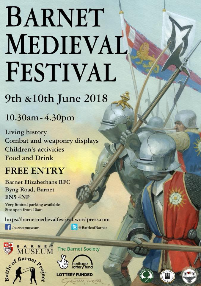Barnet Medieval Festival 2018 poster